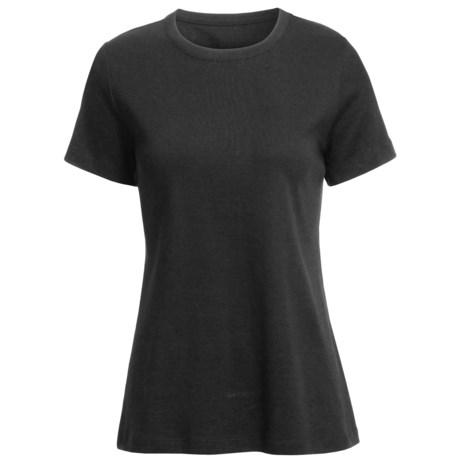 Basic Cotton T-Shirt - Crew Neck, Short Sleeve (For Women)