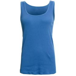 Ribbed Cotton Tank Top (For Women)
