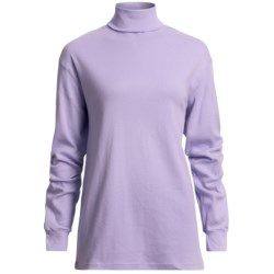 Cotton Turtleneck - Long Sleeve (For Women)