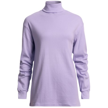 Cotton Turtleneck - Long Sleeve (For Women)