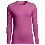 Stretch Cotton Crew Shirt - Long Sleeve (For Women)