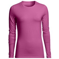 Specially made Stretch Cotton Crew Shirt - Long Sleeve (For Women)