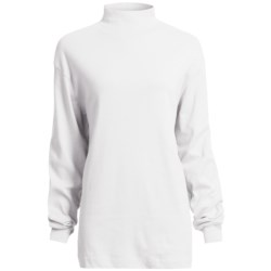 Cotton Mock Turtleneck - Long Sleeve (For Women)