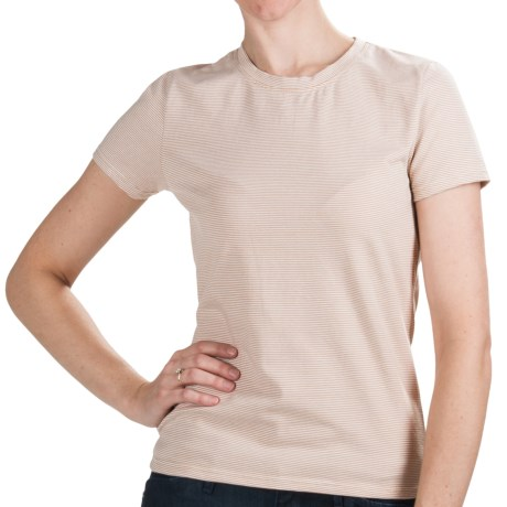 Stripe Cotton Shirt - Short Sleeve (For Women)