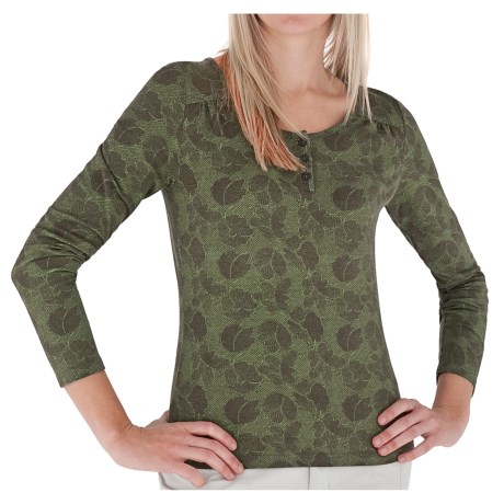 Royal Robbins Essential Traveler Printed Henley Shirt - UPF 50+, Long Sleeve (For Women)