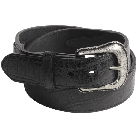 Roper Gator Tail Print Belt - Leather (For Men)
