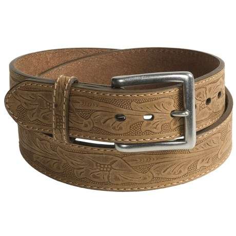 G Bar D Texas Rose Embossed Belt - Leather (For Men)