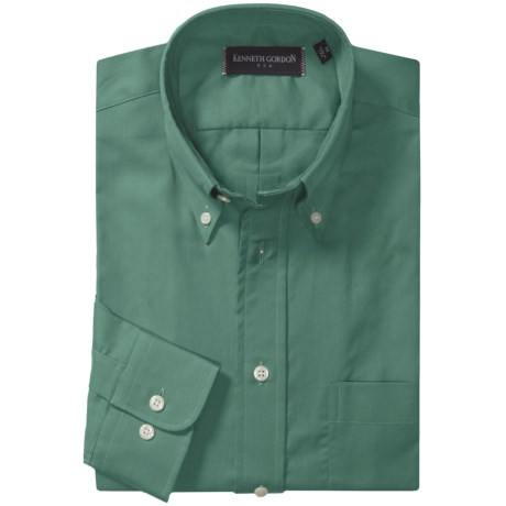 Kenneth Gordon Solid Sport Shirt - Cotton, Long Sleeve (For Men)