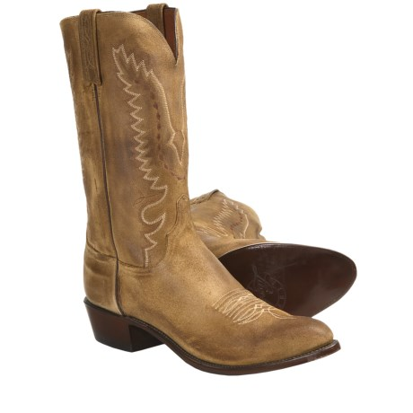 Lucchese NV7095 Wax Comanche Cowboy Boots - R4-Toe (For Men)