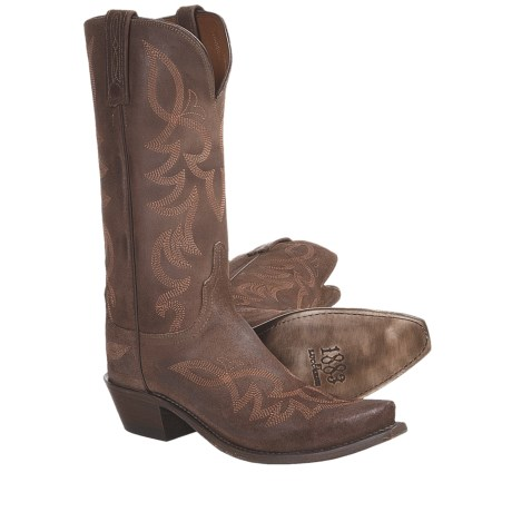 Lucchese Wax Comanche Cowboy Boots - Leather, S54-Toe (For Women)