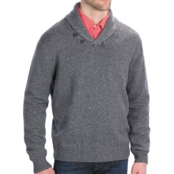 Toscano Salt and Pepper Sweater - Merino Wool Blend, Shawl Collar (For Men)