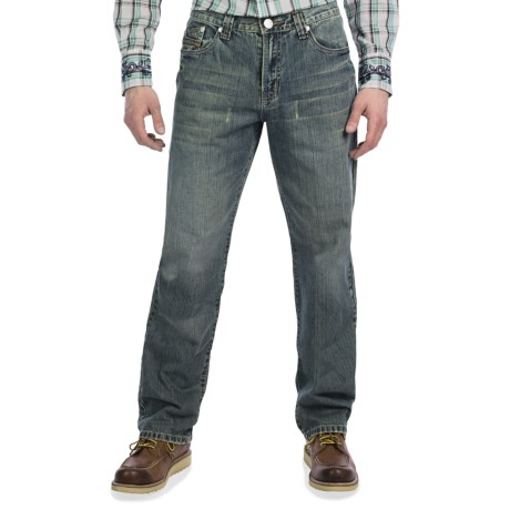 Petrol Macha Jeans - Relaxed Straight Fit (For Men)