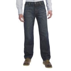 Petrol Henley Jeans - Regular Straight Fit (For Men)