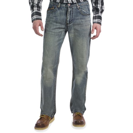 Petrol Blake Jeans - Regular Straight Fit (For Men)