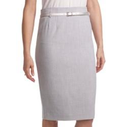 Amanda + Chelsea Belted Straight Dress Skirt (For Women)