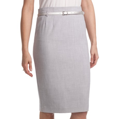 Amanda + Chelsea Belted Straight Dress Skirt (For Women)