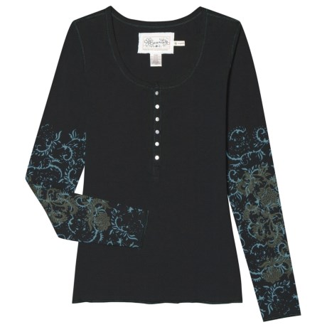 Aventura Clothing Milena Henley Shirt - Organic Cotton, Long Sleeve (For Women)