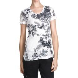 Aventura Clothing V-Neck Burnout T-Shirt - Short Sleeve (For Women)