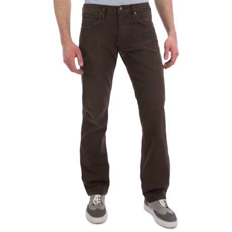 Agave Denim Gringo Art Noir Dark Brown Flex Jeans - Classic Fit (For Men)