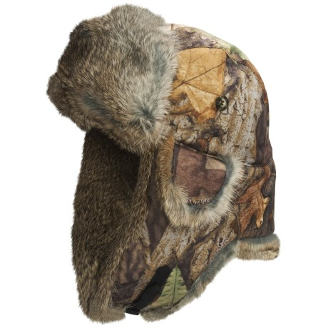 Mad Bomber® Saddlecloth Camo Aviator Hat - Rabbit Fur, Insulated (For Men and Women)