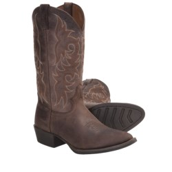 "Justin Boots Cowhide Cowboy Boots - 13"", J12 Medium Round Toe (For Men)"