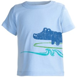 Screenprinted Cotton Jersey T-Shirt - Crew Neck, Short Sleeve (For Infant Boys)