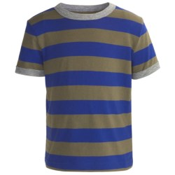 Striped Cotton Jersey T-Shirt - Crew Neck, Short Sleeve (For Toddlers Boys)