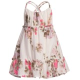 Floral Dress - Criss-Cross Back Straps (For Girls)