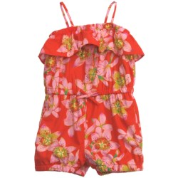 Floral Tank Romper - Spaghetti Strap (For Girls)