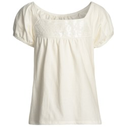 Puff Sleeve Sequined Shirt - Short Sleeve (For Girls)