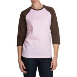 Hanes Comfortsoft® 5.2 oz. Cotton T-Shirt - 3/4 Raglan Sleeve (For Women)