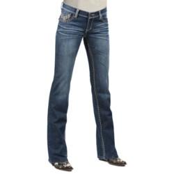 Petrol Hayden Denim Jeans - Low Rise, Slim Fit, Bootcut (For Women)