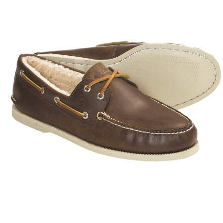 Sperry Top-Sider Winter Authentic Original Boat Shoes - Leather, Shearling-Lined (For Men)