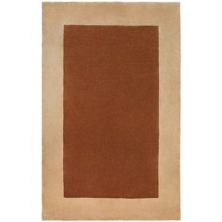 """Momeni New Wave Hand-Tufted Wool Area Rug - Solid Border, 3'6""""x5'6"""""""