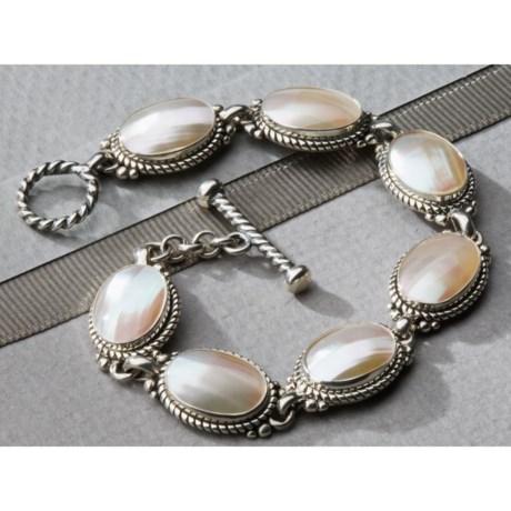 Southwest Spirit Bracelet - White Mabe Shell (For Women)