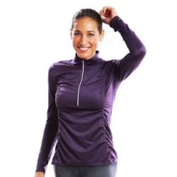 Moving Comfort Sprint Shirt - Zip Neck, Long Sleeve (For Women)