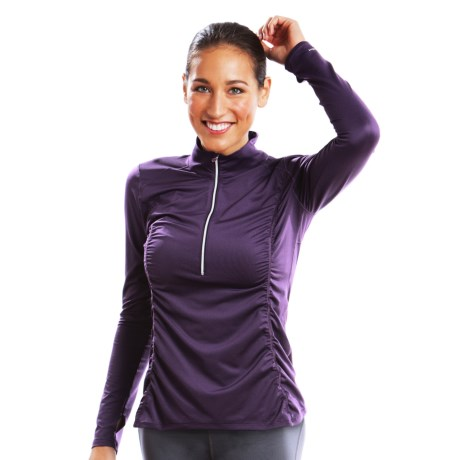 Moving Comfort Sprint Shirt - Zip Neck, Long Sleeve (For Women)
