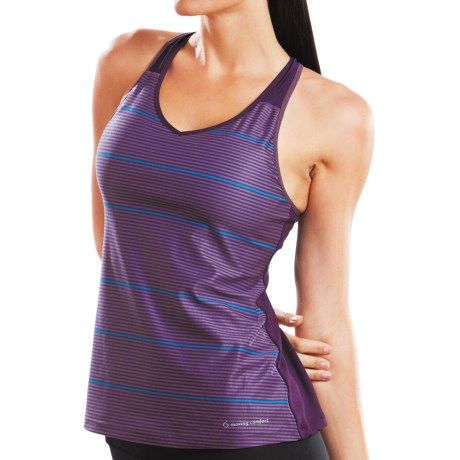 Moving Comfort Interval Tank Top - Built-In Bra, Racerback (For Women)