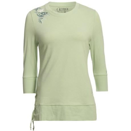 Outback Trading Running Thunder Shirt - 3/4 Sleeve (For Women)