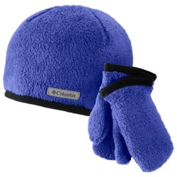 Columbia Sportswear Pearl Plush Hat and Mitten Set (For Toddlers)
