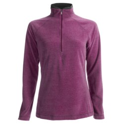 White Sierra Alpha Beta Fleece Shirt - Zip Neck, Long Sleeve (For Women)