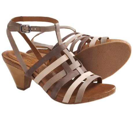 Naya Tatiana Strappy Sandals - Leather (For Women)