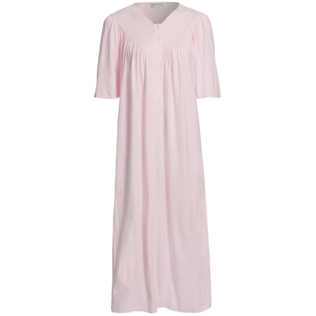 Fini Moore by Rosch Ruched V-Neck Nightgown - Short Sleeve (For Women)