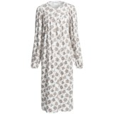 Fini Moore by Rosch Ruched Cotton Nightgown - Long Sleeve (For Women)