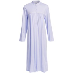 Fini Moore by Rosch Crochet-Trimmed Nightgown - Long Sleeve (For Women)