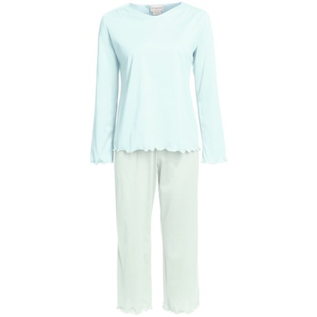 Fini Moore by Rosch Cotton Capri Pajamas - Long Sleeve (For Women)