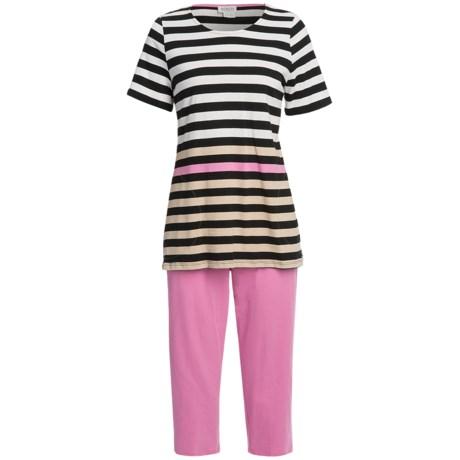 Rosch Striped Capri Pajamas - 3/4 Sleeve (For Women)