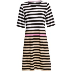 Rosch Striped Nightshirt with Pockets - 3/4 Sleeve (For Women)