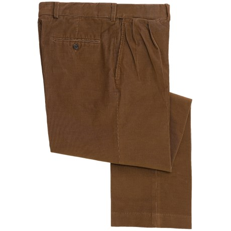 18-Wale Corduroy Comfort Waist Pants - Pleated (For Men)
