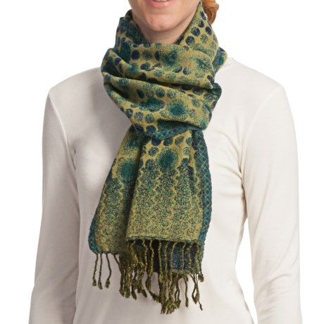 Asian Eye Lumi Scarf - Reversible, Boiled Wool (For Women)